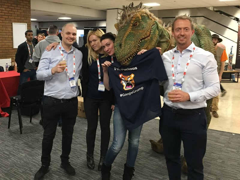 AccuRanker team at BrightonSEO